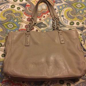 Kate Spade taupe soft pebble leather handbag
